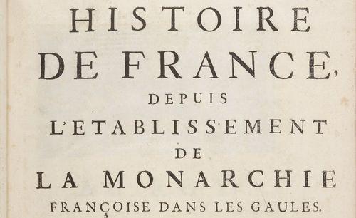 """Accéder à la page """"Gabriel Daniel, Histoire de France, depuis l'établissement de la monarchie française dans les Gaules (Paris : J.-B. Delespine, 1713)"""""""