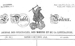"""Accéder à la page """"Diable boiteux (Le) : journal des spectacles, des moeurs et de la littérature """""""