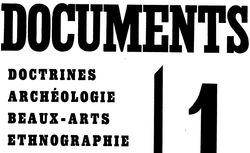 Documents : doctrines, archéologie, beaux-arts, ethnographie
