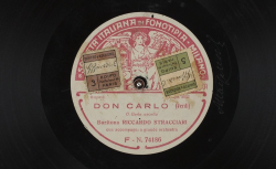 """Don Carlo : """"O Carlo ascolta"""" ; Verdi, comp. ; Ricardo Stracciari, BAR ; acc. d'orchestre - source : gallica.bnf.fr / BnF"""