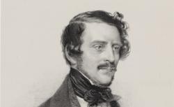 Gaetano Donizetti, lithographie d'Auguste Lemoine. 1840