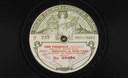 """Don Pasquale. Duetto atto III. Norina-Don Pasquale : """"Signorina, in tanta fretta"""" ; Donizetti, comp. ; Aida Gonzaga, S, Ferrucio Corradetti, BAR ; acc. de piano - source : gallica.bnf.fr / BnF"""