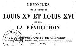 """Accéder à la page """"Dufort de Cheverny, Mémoires"""""""