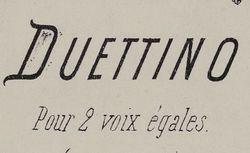 """Accéder à la page """"Duo vocal"""""""