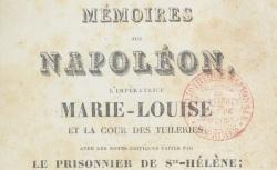 """Accéder à la page """"Durand, Sophie générale, Mémoires sur Napoléon"""""""