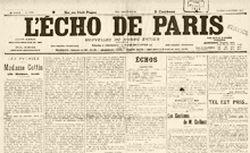 """Accéder à la page """"Echo de Paris (L')"""""""