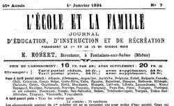 """Accéder à la page """"Ecole et la Famille (L')"""""""