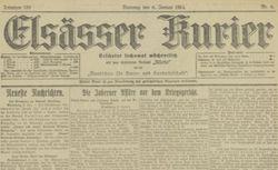 """Accéder à la page """"Elsässer Kurier"""""""