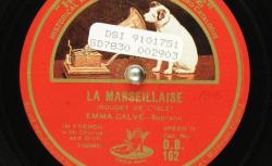 Disque SD 78 30-2903 - Emma Calvé (1858-1942) est une artiste lyrique d'opéra soprane française - source : BnF/gallica.bnf.fr