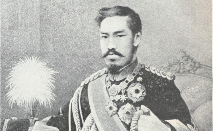 """""""L'empereur Meiji"""". E. Arcambeau, Mutsu-Hito l'empereur du Meiji, 1912. 4-O20-709"""