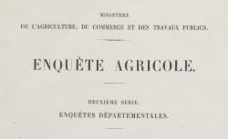 """Accéder à la page """"Enquête agricole départementale (25e circonscription)"""""""