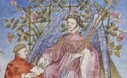 Figure de l'humanisme français: Christine de Pizan a rédigé des poèmes, des traités philosophiques, politiques, et militaires  Epistreaudieudamours_fr.835