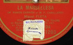 Disque NC Gramophone DA 1203 - Miguel Fleta (1893-1938) est un ténor espagnol - source : BnF/gallica.bnf.fr