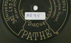 Disque NC Columbia A 5030 - Disque édité aux Etats-Unis - source : BnF/gallica.bnf.fr