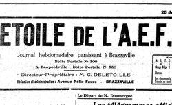 L'Étoile de l'A.E.F. : journal hebdomadaire