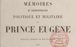 """Accéder à la page """"Eugène de Beauharnais, Mémoires et correspondance"""""""