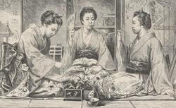 """""""Types nationaux à l'Exposition universelle. Japon"""". Le Monde illustré, 28 septembre 1867. FOL-LC2-2943. p. 197"""