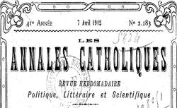 """Accéder à la page """"Annales catholiques"""""""