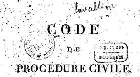 """Accéder à la page """"Code de procédure civile """""""
