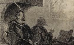 [Enregistrements sonores] / Faust, acte I, scène II, le cabinet de Faust, Théâtre-Lyrique, 1859 / lithogr. d'après le décor de Cambon ou Thierry ; Lamy [sig.] - source : gallica.bnf.fr / BnF