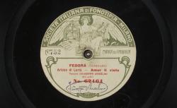 Fedora. Arioso di Loris : Amor ti vieta ; Giordano, comp. ; Giuseppe Anselmi, ténor - source : gallica.bnf.fr / BnF