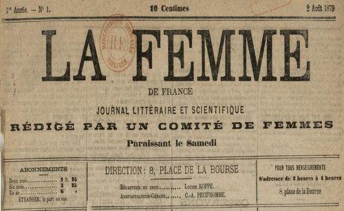 """Accéder à la page """"Femme de France (La)"""""""