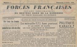 """Accéder à la page """"Forces françaises (Secteur nord de la Dordogne)"""""""