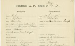 Ensemble des enregistrements réalisés dans le Berry entre le 28 et le 30 juin 1913 (29 disques)