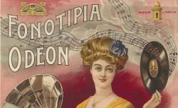 Fonotipia Odéon - Affiche publicitaire de Ménétrier - source : gallica.bnf.fr / BnF