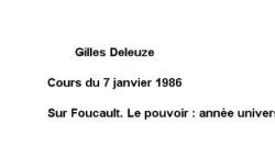 """Accéder à la page """"Sur Foucault : le pouvoir"""""""