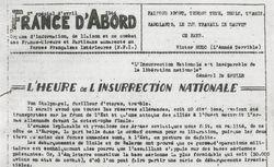 """Accéder à la page """"France d'abord (zone sud)"""""""
