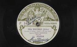 "Fra Diavolo. Cavatina di Zerlina : ""Or son sola"" ; Auber, comp. ; Maria Barrientos, S ; acc. de piano - source : gallica.bnf.fr / BnF"
