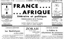 """Accéder à la page """"France Afrique"""""""