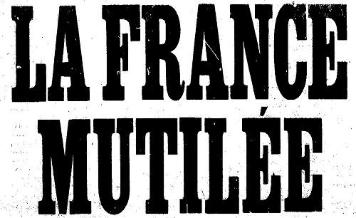 """Accéder à la page """"France mutilée (La)"""""""