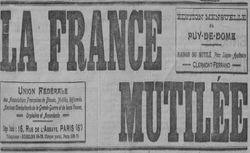 """Accéder à la page """"France mutilée (La) (Ed. mensuelle du Puy-de-Dôme)"""""""