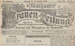 """Accéder à la page """"Mülhauser Frauen-Zeitung"""""""