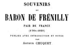 """Accéder à la page """"Frénilly, baron de, Souvenirs"""""""