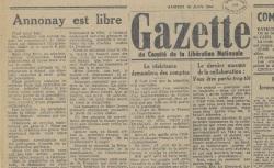 """Accéder à la page """"Gazette du Comité de la libération nationale (Annonay)"""""""