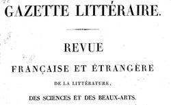 """Accéder à la page """"Gazette littéraire"""""""