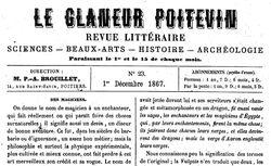 """Accéder à la page """"Glaneur poitevin (Le) """""""