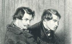 Edmond et Jules de Goncourt. Gavarni. Masques et visages, 1853. RESERVE DC-218B (67)-FOL