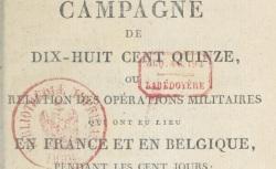 """Accéder à la page """"Gourgaud, Campagne de 1815"""""""