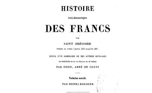 """Accéder à la page """"Grégoire de Tours, Histoire des Francs"""""""