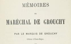 """Accéder à la page """"Grouchy, maréchal de, Mémoires"""""""