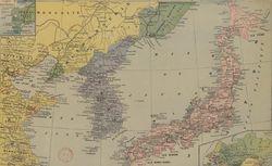 Carte du théâtre de la guerre Russo-Japonaise, Le Petit Parisien, 1904. GED-4561