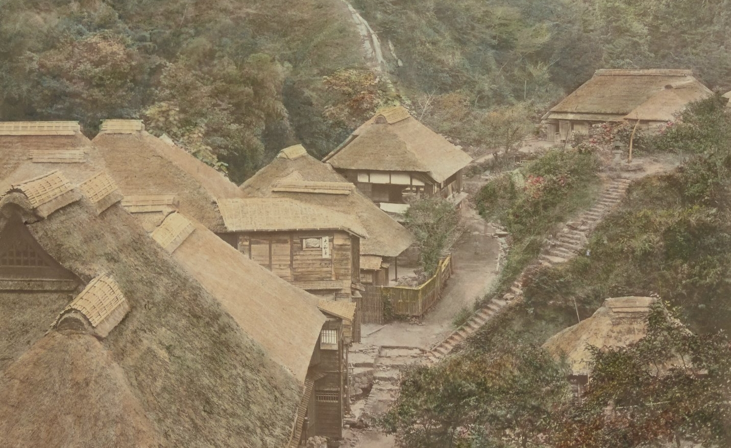 [Hakone] Dogashima, [s.d.], Japonais / Stillfried & Andersen, 1877-1878. SG WD-232 (RES)