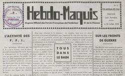 """Accéder à la page """"Hebdo-Maquis"""""""