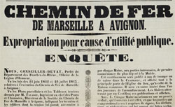 Chemin de fer de Marseille à Avignon. Expropriation pour cause d'utilité publique