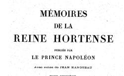 """Accéder à la page """"Hortense reine de Hollande, Mémoires"""""""