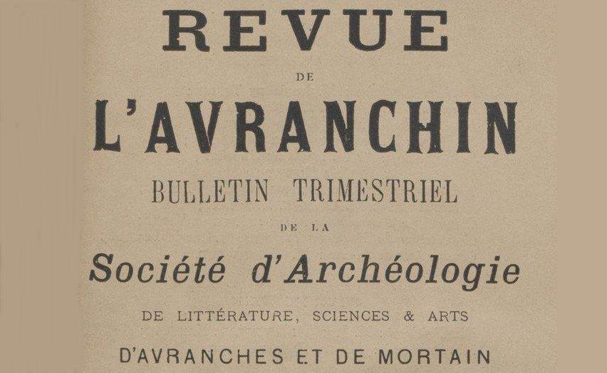 """Accéder à la page """"Société d'archéologie d'Avranches, Mortain et Granville"""""""